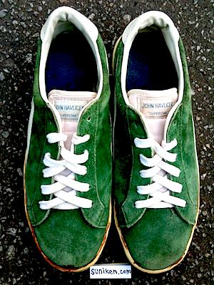 """ブランド名不明 グリーンスエード・スニーカー """"ジョン・ハブリチェック""""(unknown green suede sneaker """"John Havlicek"""")"""
