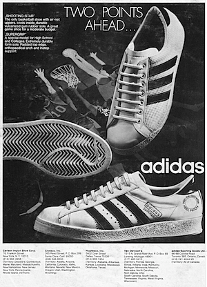 """TWO POINTS AHEAD … Adidas Shooting-Star,Adidas Supergrip"