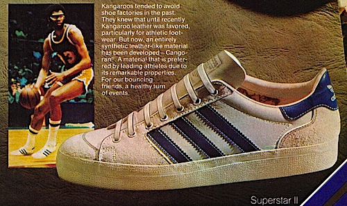 Kareem Abdul-Jabbar and adidas superstar II