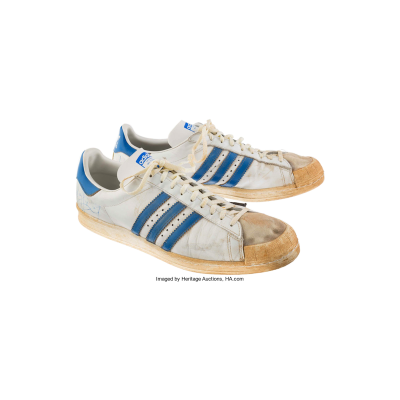 adidas Superstar : Kelly Tripucka Game Worn (Early 1980's)