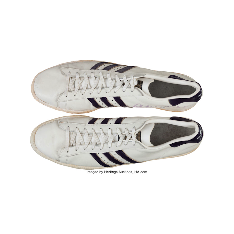 adidas Superstar : Kareem Abdul Jabbar Game Worn, Signed (1982)