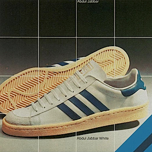 adidas Abdul Jabbar white / high-cut