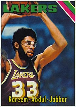 """1975-76 Topps #90"" Kareem Abdul-Jabbar"