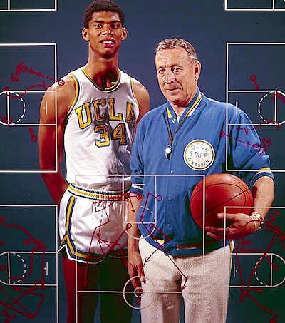 Lew Alcindor with coach John Wooden