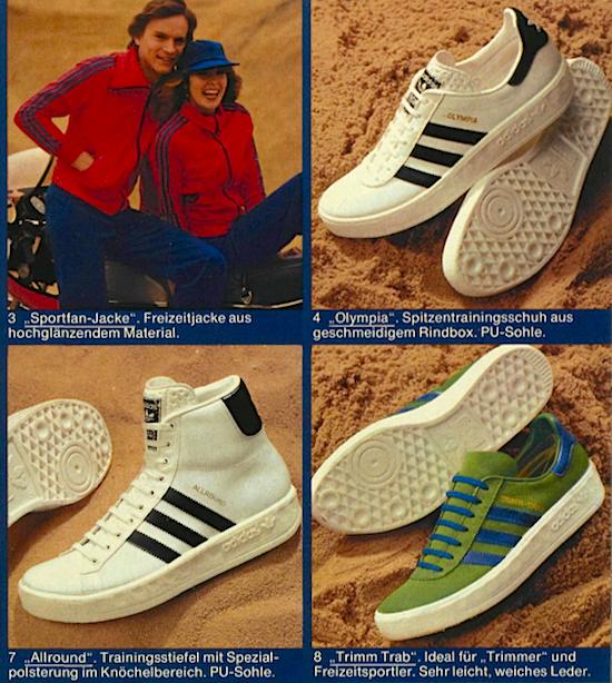 1977年ドイツ向けアディダスカタログ