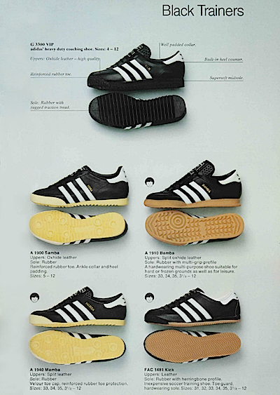 adidas Black Trainers 1980