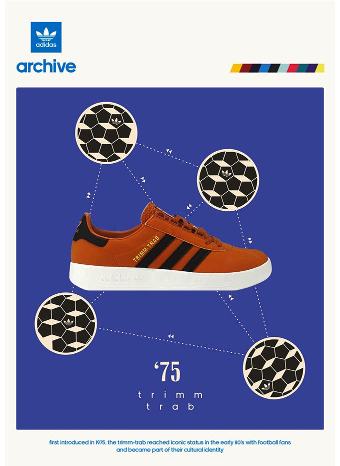 """adidas Originals Trimm Trab """"Orange/black"""" size? UK exclusive (2014)"""