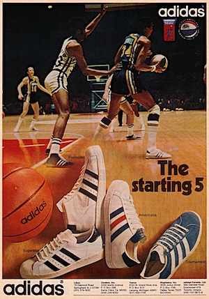 """The starting 5"" adidas basketball shoes"