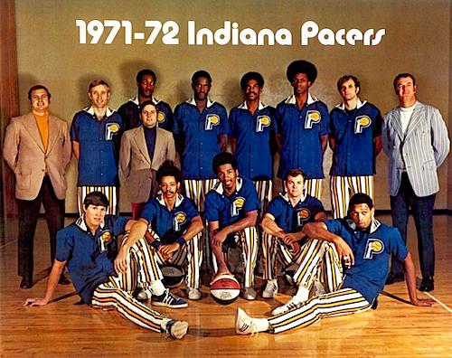 1971-1972 ABAチャンピオン、インディアナ・ペイサーズ(Indiana Pacers)のチーム写真