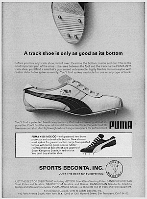 Puma 1960s print ad