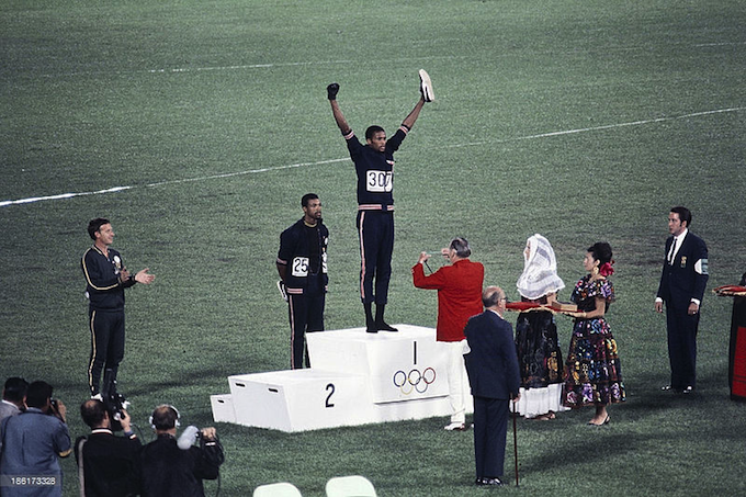 Peter Norman, John Carlos, Tommie Smith 1968