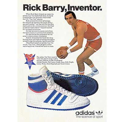 Rick Barry adidas Top Ten