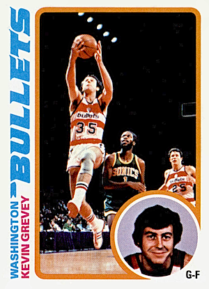 Kevin Grevey Topps card 1978-1979