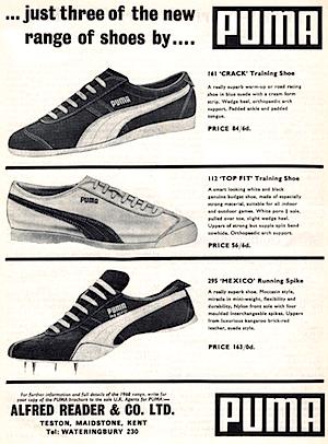 Puma magazine ad print 1968