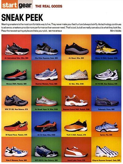 Vibe magazine 2001/02 sneaker