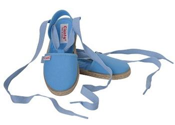 Cienta Espadrille Blue Tie Up