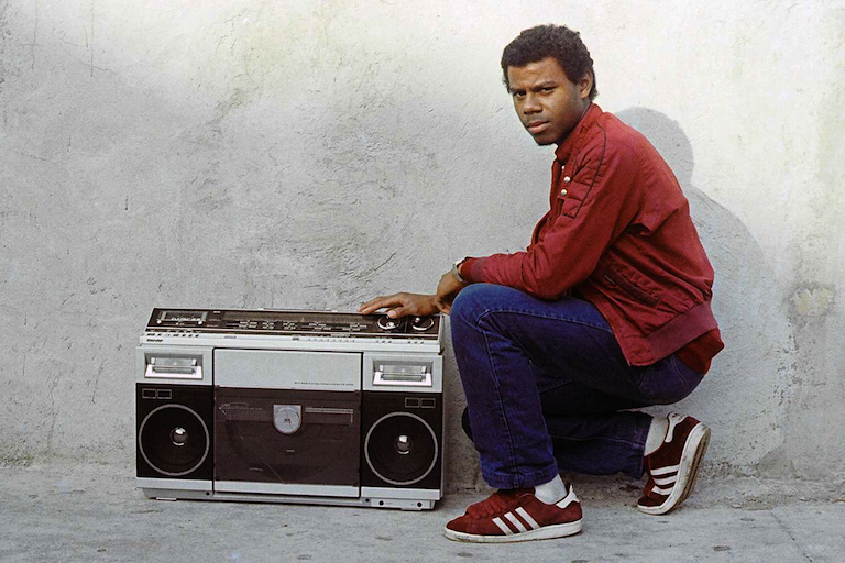 A man poses with a boombox in Brooklyn Jamel Shabazz (1980)