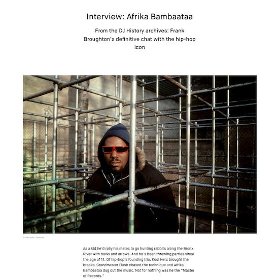 Interview: Afrika Bambaataa / Red Bull Music Academy (2017)