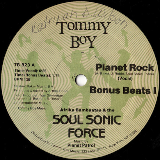 Afrika Bambaataa & the Soul Sonic Force Music By Planet Patrol / Planet Rock (1982)