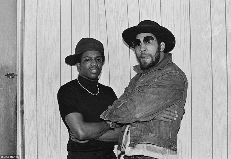 DJ Kool Herc (right) and DJ Tony Tone (1979)