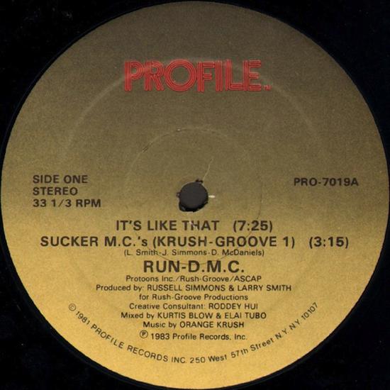 Run-D.M.C. / It's Like That / Sucker M.C.'s (Krush Groove 1) (1983)