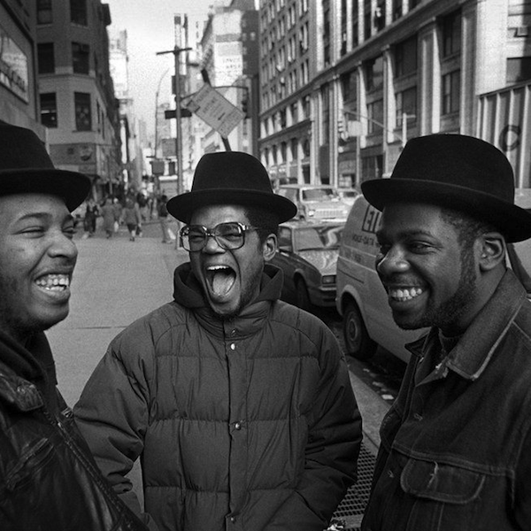 Run-D.M.C. on the streets of New York City (1985)