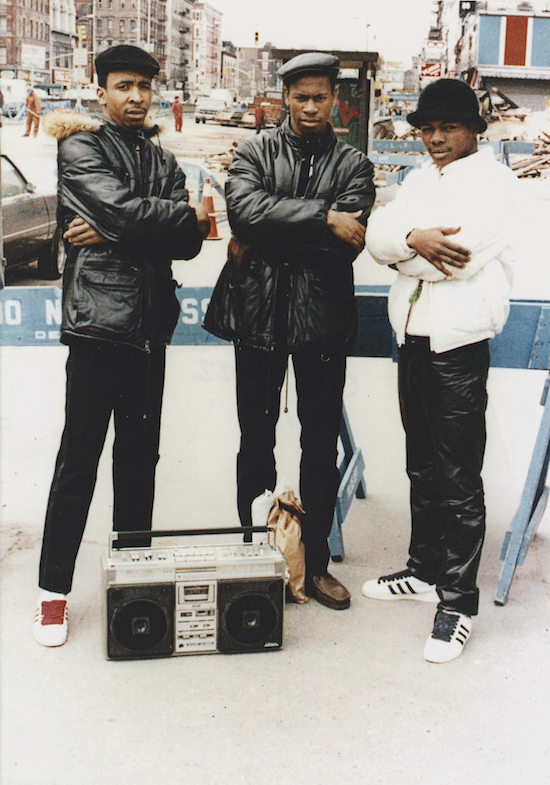 Three men on the Lower East Side. Jamel Shabazz (1980)
