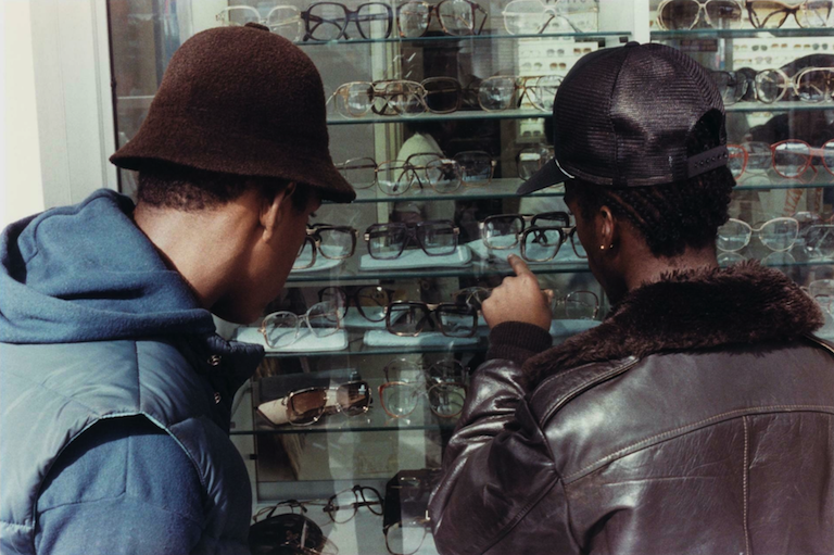 Untitled (Two Guys Looking at Sunglasses) Jamel Shabazz 1981