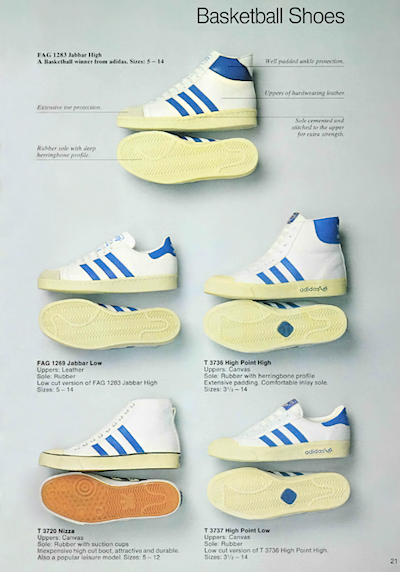 adidas UK catalogue 1980