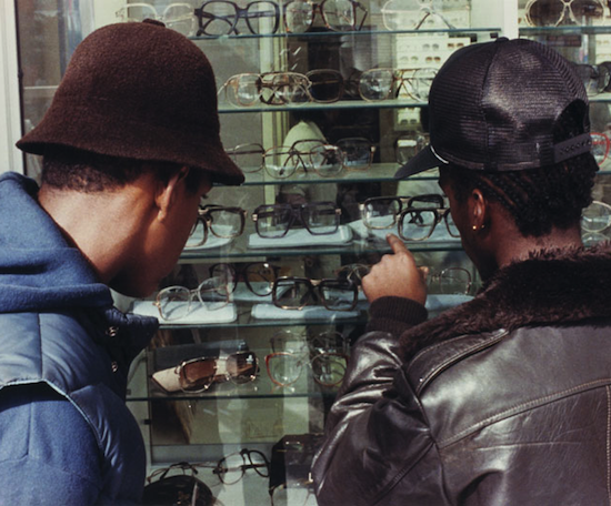 Two Guys Looking at Sunglasses 1981