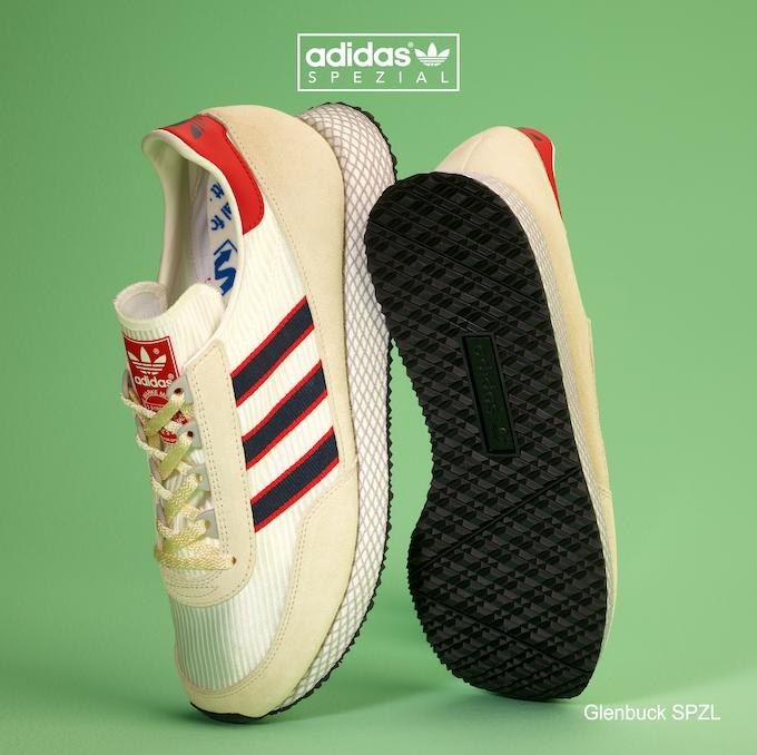 adidas Glenbuck SPZL (Grey / Navy / Red)