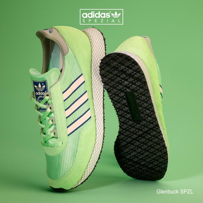 adidas Glenbuck SPZL (Pistachio / Pink / Grey)