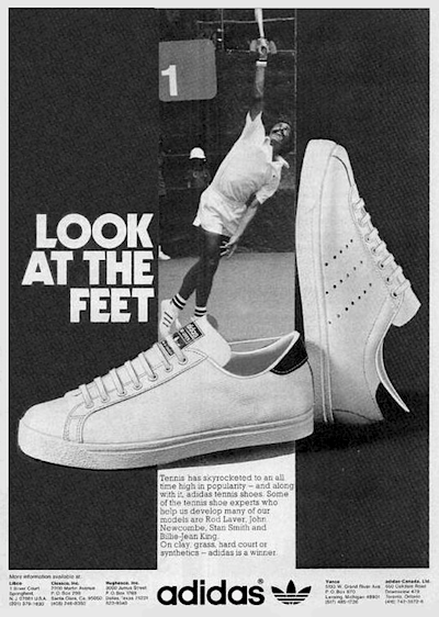 adidas tennis shoes ad 1974