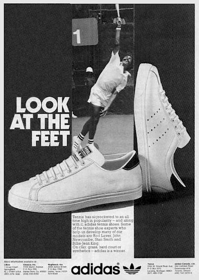 adidas tennis shoes ad 1974