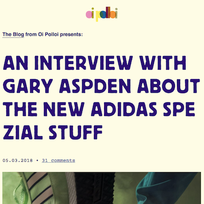 An Interview with Gary Aspden about the new adidas Spezial stuff
