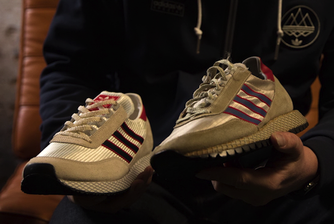 an unknown OG running shoe and adidas Glenbuck SPZL