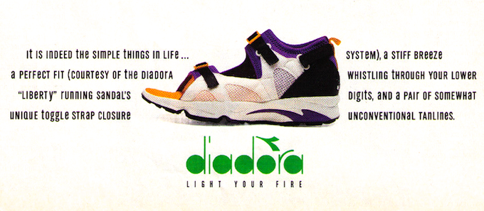 Diadora Liberty Magazine Print Advert (1994)