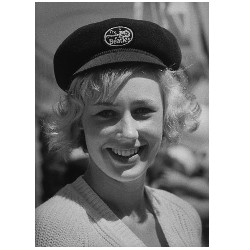 Beatles hat worn by German girl (1964)
