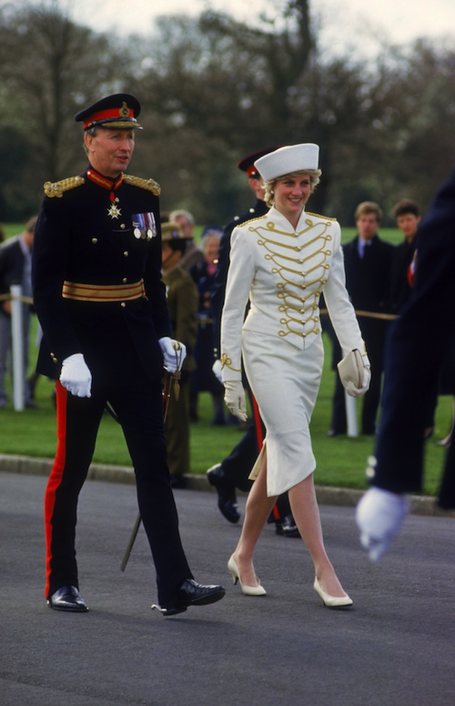 Princess Diana At Sandhurst, April 1987.