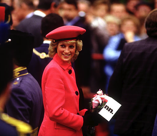 Princess Diana In Bonn, Germany, November 1987.