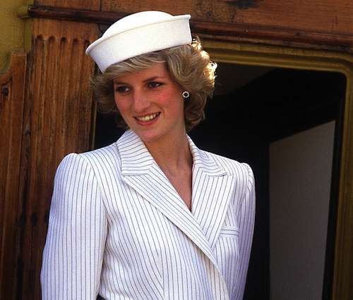 Princess Diana in La Spezia, Italy, April 1985.