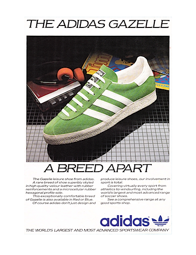 adidas Gazelle print ad (1985)