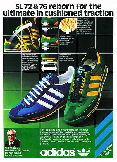 adidas SL 72 & 76 Magazine Print Advert (1978)