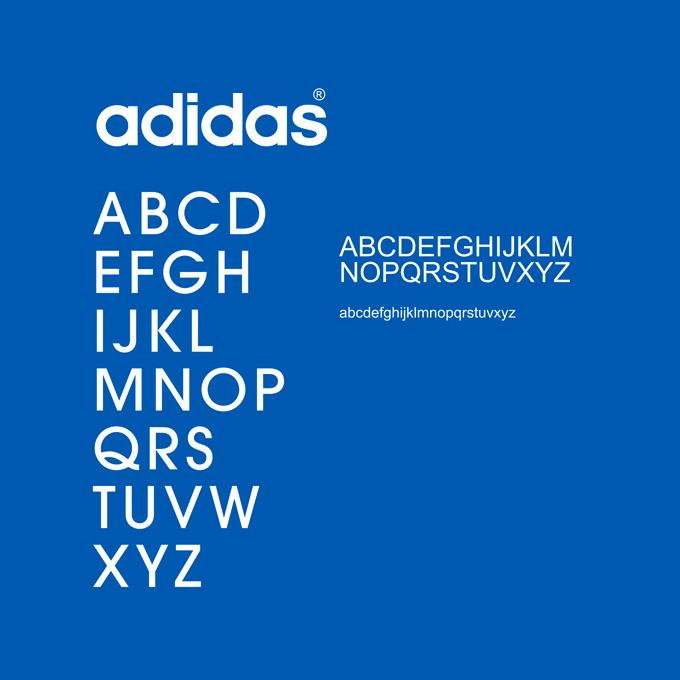 adidas font A-Z