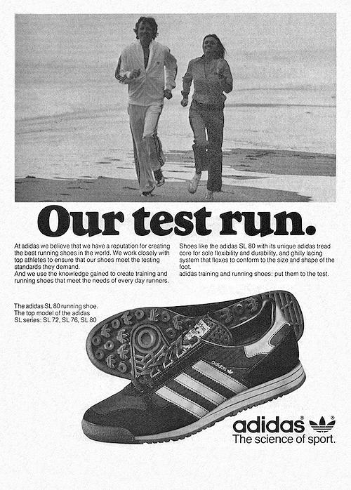 adidas SL 80 magazine ad (1979)