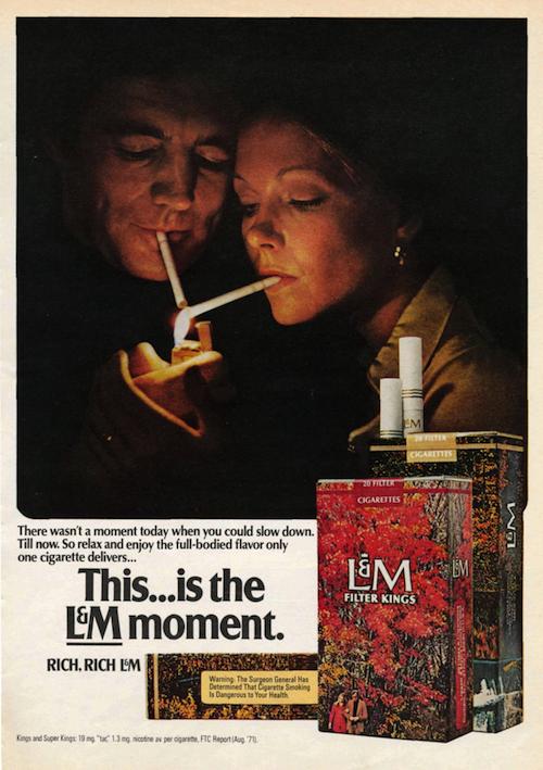 L&M print ad (1972)