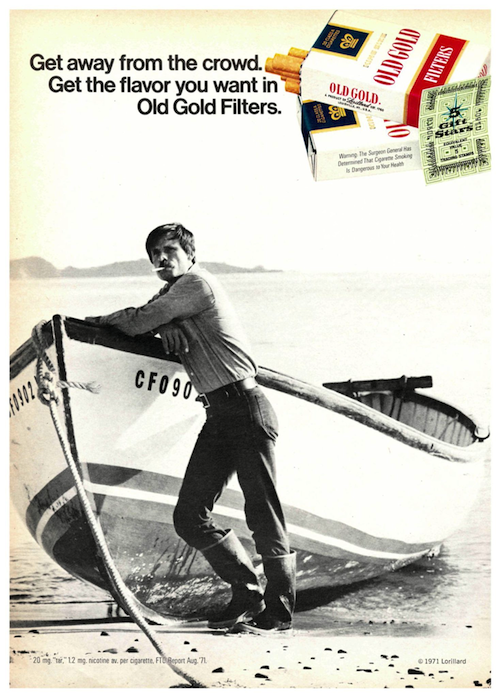 Old Gold print ad (1972)