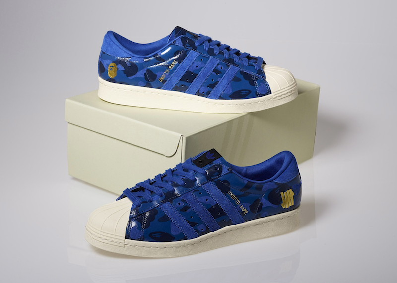 adidas Originals x UNDFTD x A Bathing Ape blue camo (2015)