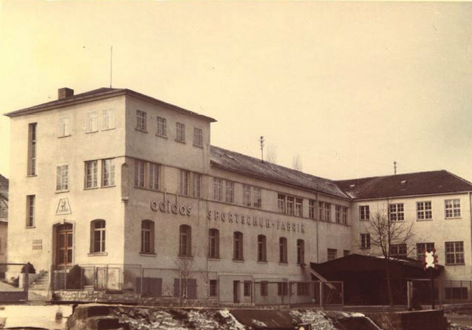 The original adidas in Herzogenaurach in the 1950s.