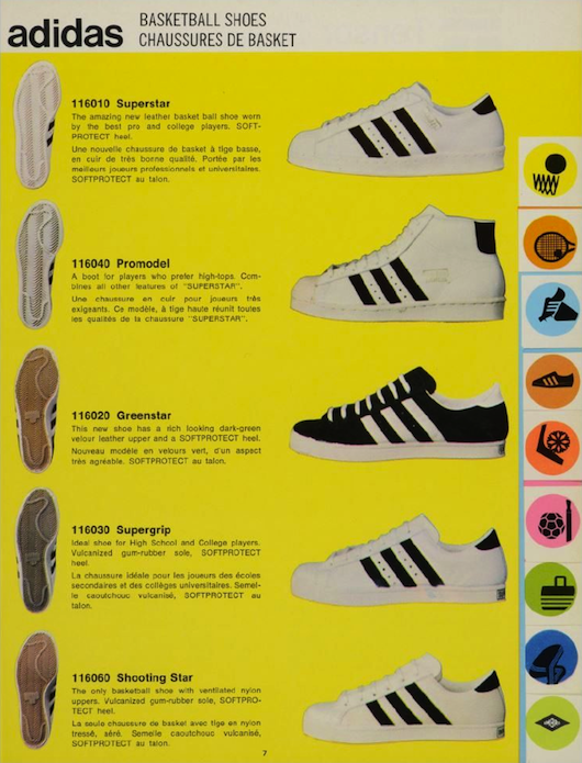 adidas Superstar catalogue page